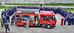 Exerciţiului practic de evacuare în caz de incendiu la SNPAP Târgu-Ocna